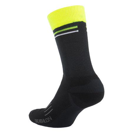 900 Winter Cycling Socks - Black/Yellow