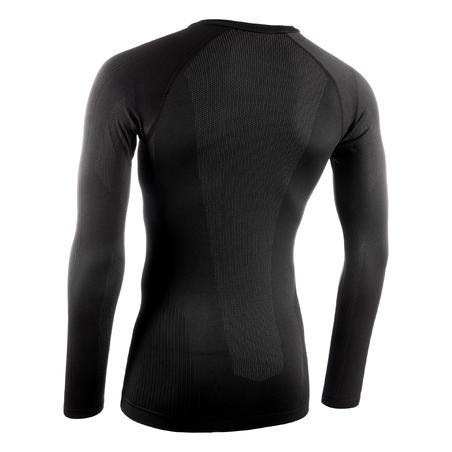 Термофутболка 500 для велоспорту, зимова - Чорна