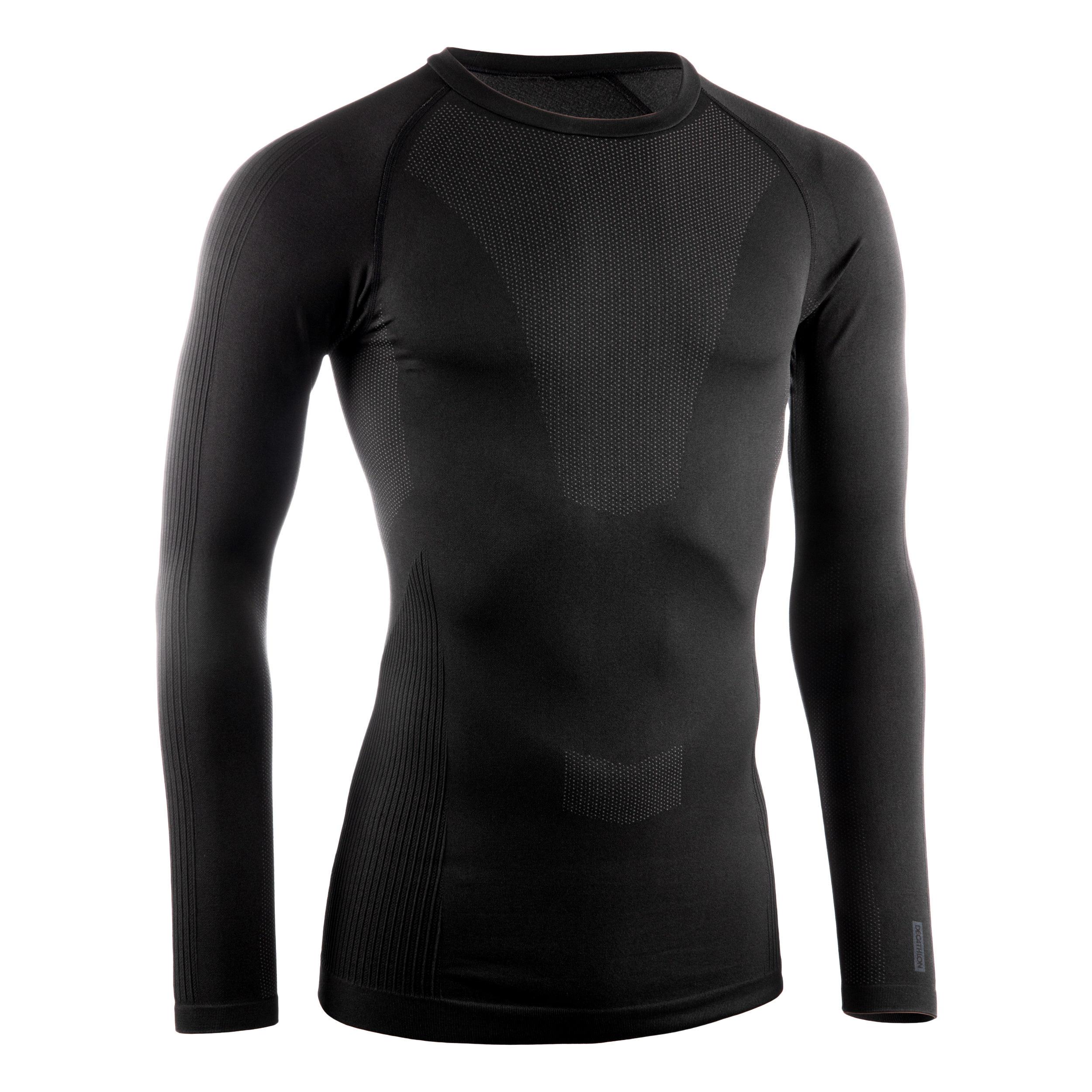 Bluză ciclism iarnă 500 Negru