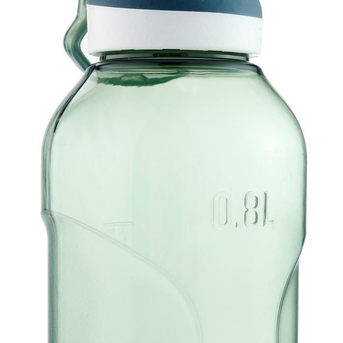 Gourde randonnée 500 bouchon ouverture rapide 0,8 litre plastique Tritan kaki