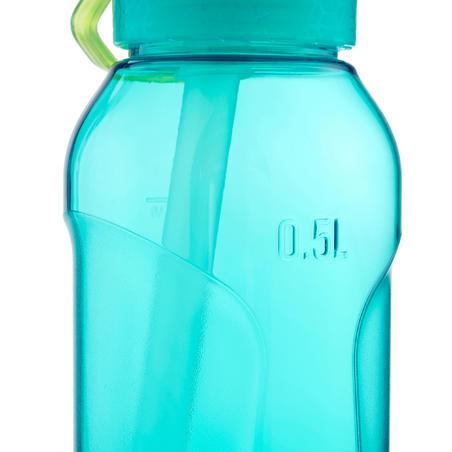 Gourde randonnée 900 bouchon instantané avec pipette 0,5 litre Tritan turquoise