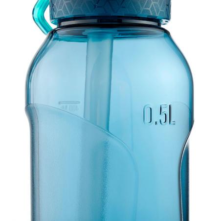 Cantimplora senderismo apertura instantánea pipeta 0.5 l Tritan azul petróleo