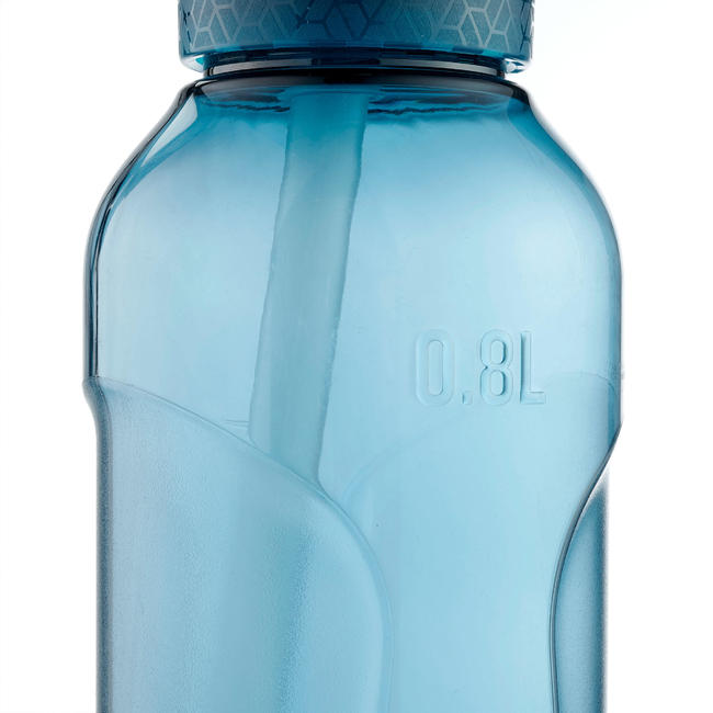 Hiking flask. 900 instant opening with straw, 0.8 litre Tritan - Petrol blue