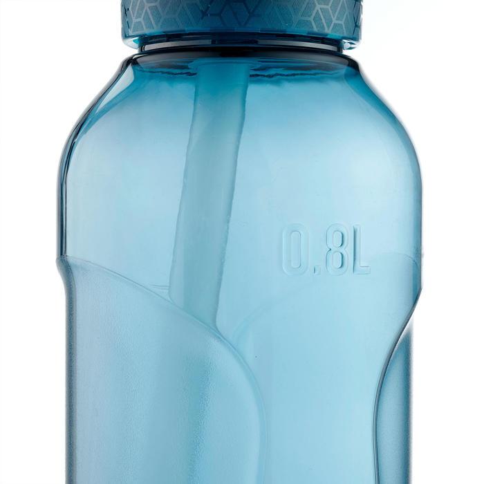 Gourde rando. 900 bouchon instantané avec pipette 0,8 litre Tritan bleu pétrol