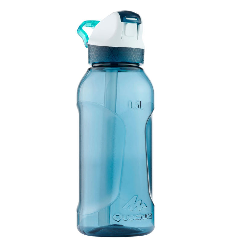 Hiking flask. Tritan 900 instant capwith 0.5 litre pipette - petrol blue