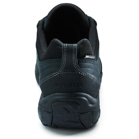 NAKURU WATERPROOF MEN'S FITNESS WATERPROOF WALKING SHOES LEATHER - BLACK