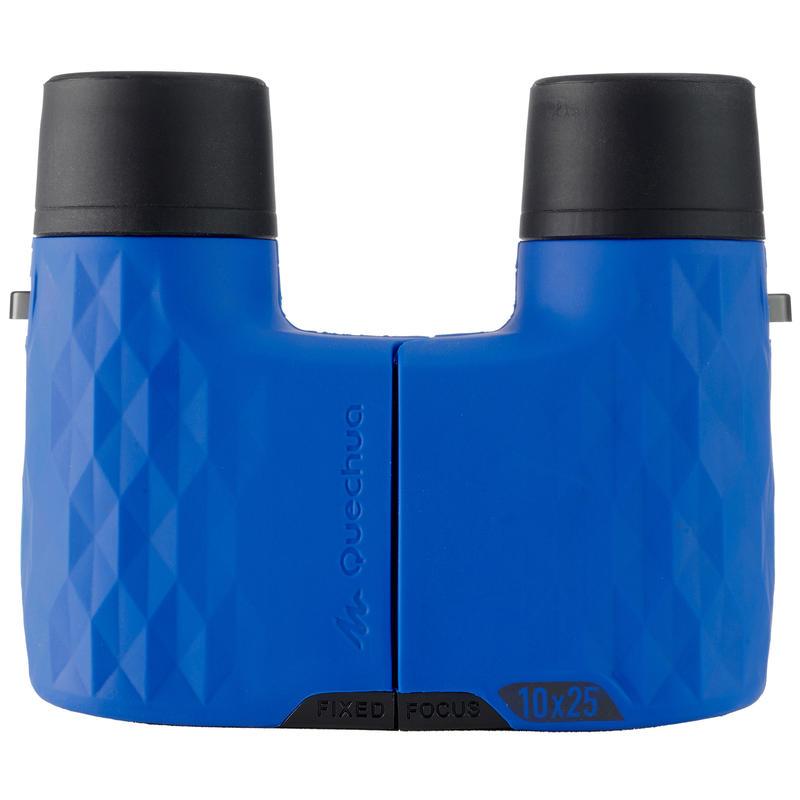 Adult Mountain Hiking Magnification Binoculars 140 Fixed FocusX10- Blue