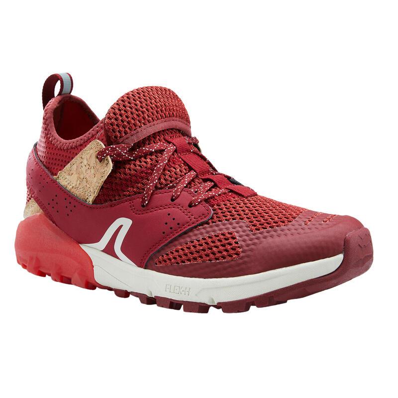 Ademende schoenen voor nordic walking NW 500 rood