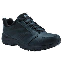 Waterdichte herensneakers voor sportief wandelen Nakuru Novadry leer zwart