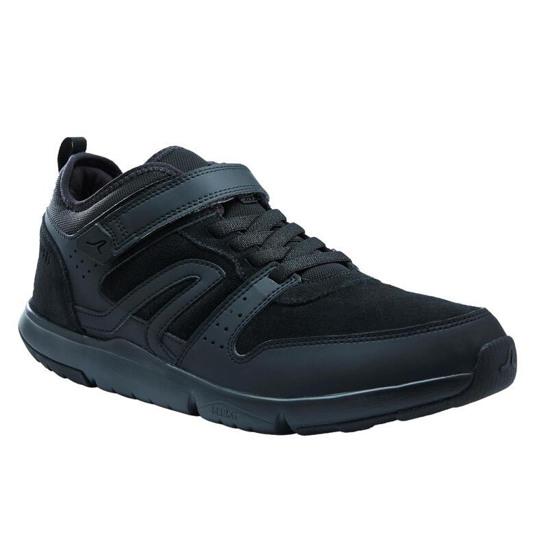 Chaussures cuir marche urbaine homme Actiwalk Easy Leather noir