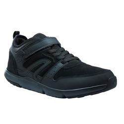 Herensneakers voor sportief wandelen Actiwalk Easy leer zwart