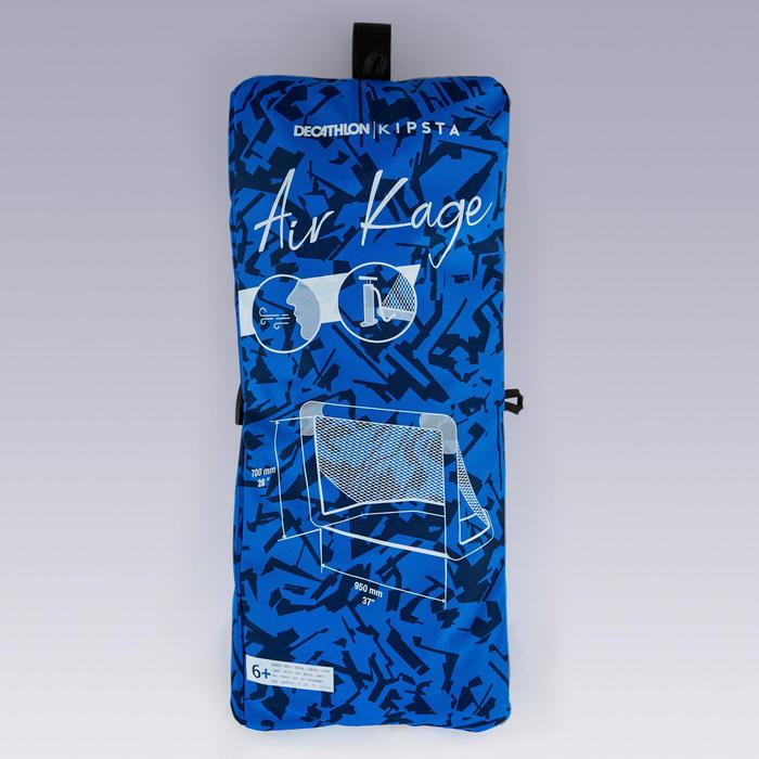 Opblaasbaar voetbaldoeltje Air Kage 95x70 cm blauw/wit