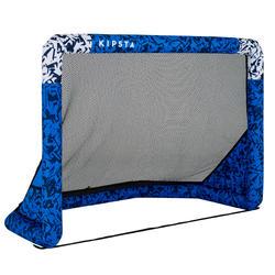 Fussballtor Air Kage aufblasbar blau/weiss