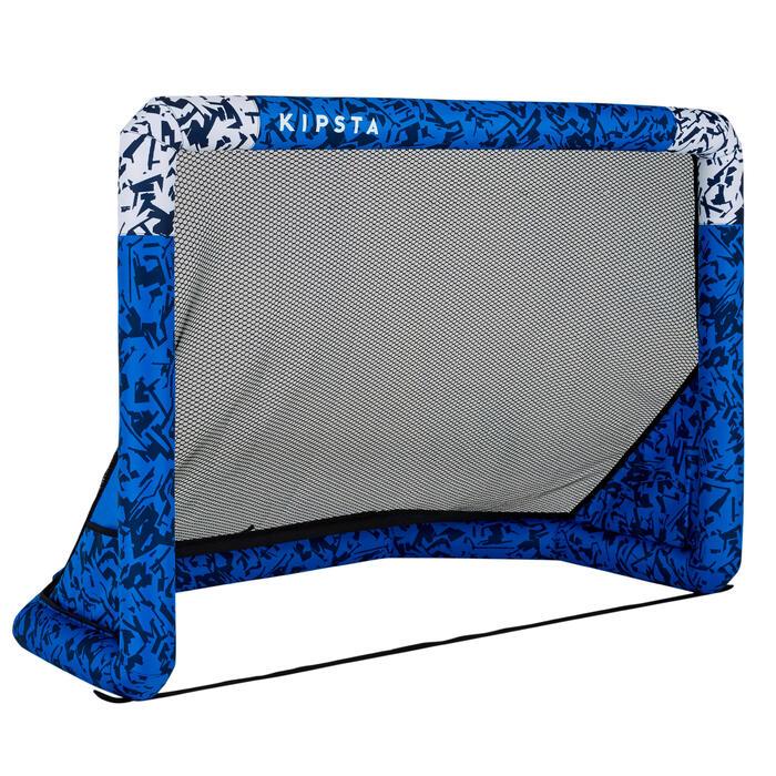Opblaasbaar voetbaldoel Air Kage blauw wit