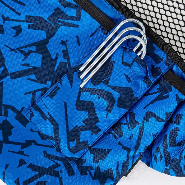 But de football gonflable AIR KAGE Bleu Blanc
