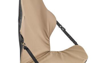 chaise qui se roule et se fixe sous le sac à dos