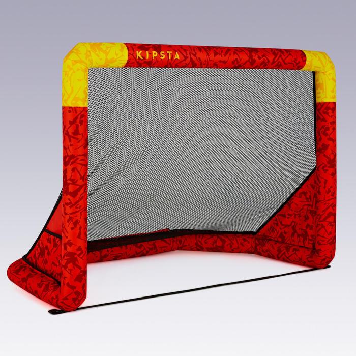 Opblaasbaar voetbaldoel Air Kage rood geel