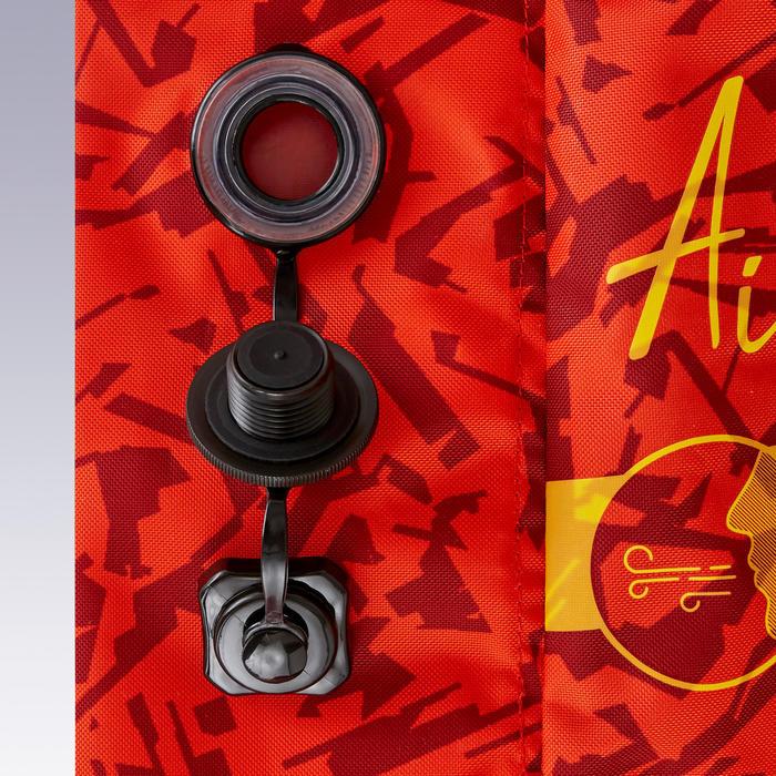Opblaasbaar voetbaldoeltje Air Kage 95x70 cm rood/geel
