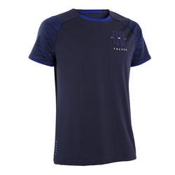 成人款足球T恤FF100-法國代表色