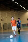 DĚTSKÉ OBLEČENÍ NA FUTSAL Futsal - FUTSALOVÝ DRES ORANŽOVÝ IMVISO - Fotbal (test)