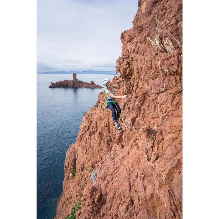 T-shirt voor klimmen dames stretch turquoise