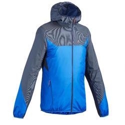 Men's fast hiking windproof jacket FH500 Helium Wind - Blue