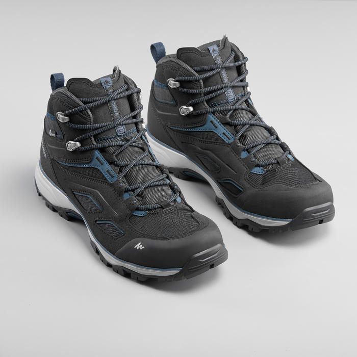 Men's Waterproof Mountain Hiking Shoes - MH100 Mid - Black