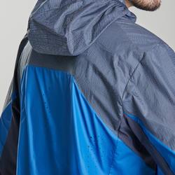 Windjack voor fast hiking heren FH500 Helium Wind blauw