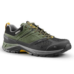 Men's Mountain Walking Waterproof Shoes - MH500 - Khaki