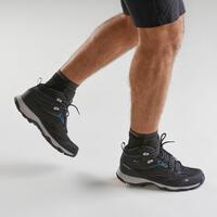 Men's Waterproof Mountain Walking Shoes - MH100 Mid - Black