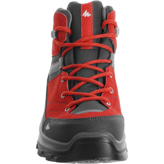 Waterdichte hoge wandelschoenen voor kinderen MH500 rood