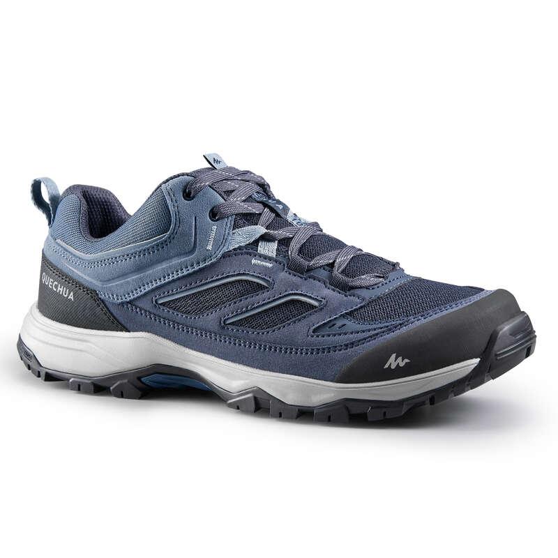 МУЖСКАЯ ОБУВЬ / ГОРНЫЕ ПОХОДЫ Удобная обувь для походов - Ботинки муж. синие MH100 QUECHUA - Бутик