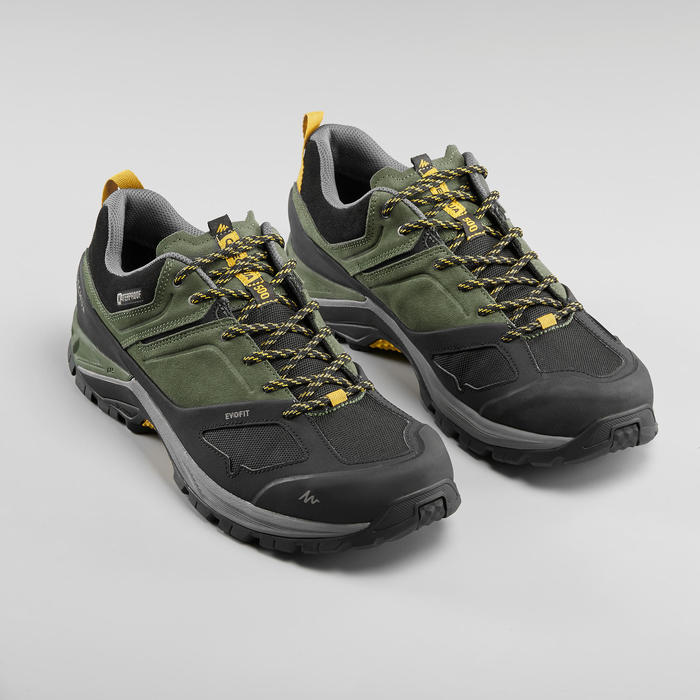 Men's Mountain Walking Waterproof Shoes - MH500 - Khaki