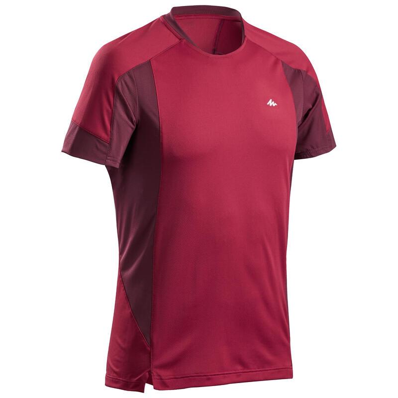 Tee-Shirt manches courtes de randonnée montagne - MH500 - Homme