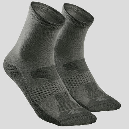 Country walking Socks X 2 pairs NH 100 - Khaki