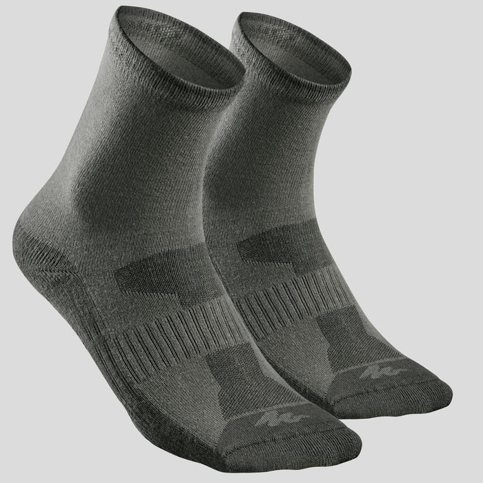 Calcetines senderismo naturaleza Caqui - NH100 - X 2 pares