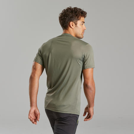 Men's Mountain Walking Short-Sleeved T-Shirt MH100