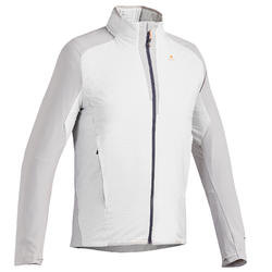 Men's Warm Jacket For Fast Hiking FH 900 Hybrid - Light Grey