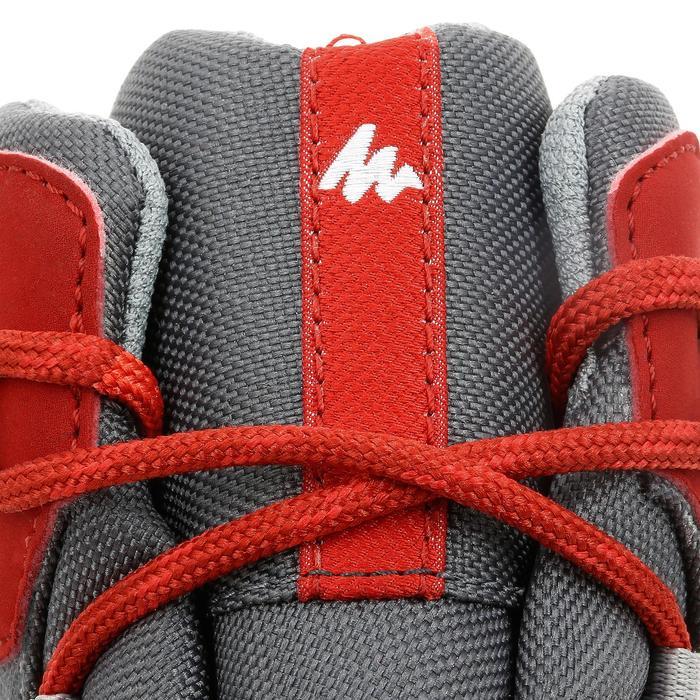 Botas de senderismo en montaña júnior MH500 Mid impermeables rojo