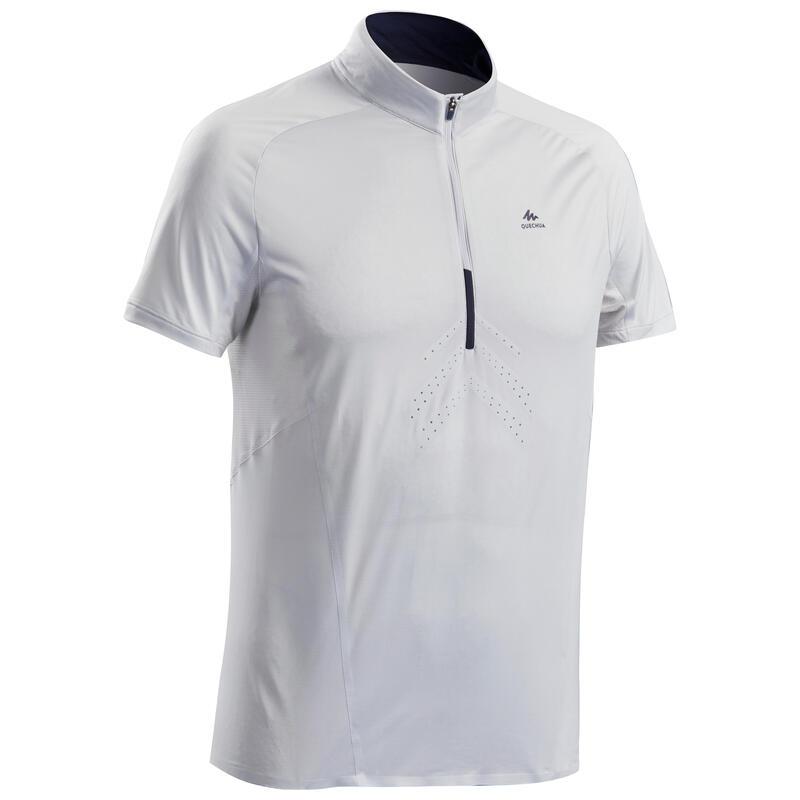 T-shirt montagna uomo FH500 HELIUM grigio chiaro