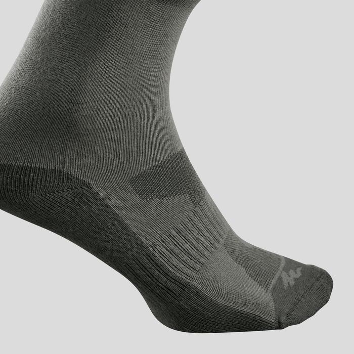 Sokken voor wandelen in de natuur - NH100 high - kaki 2 paar