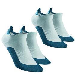 Country walking socks - NH500 Low - X2 pairs - green
