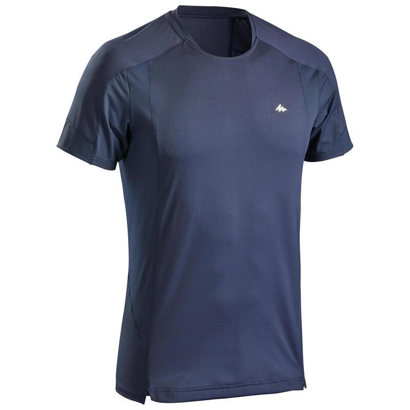 T-shirt montagna uomo MH500 azzurra