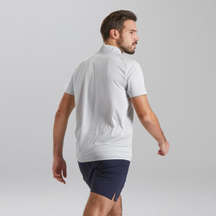 Men's Fast Hiking Short-sleeved T-Shirt FH500 - Lunar Grey