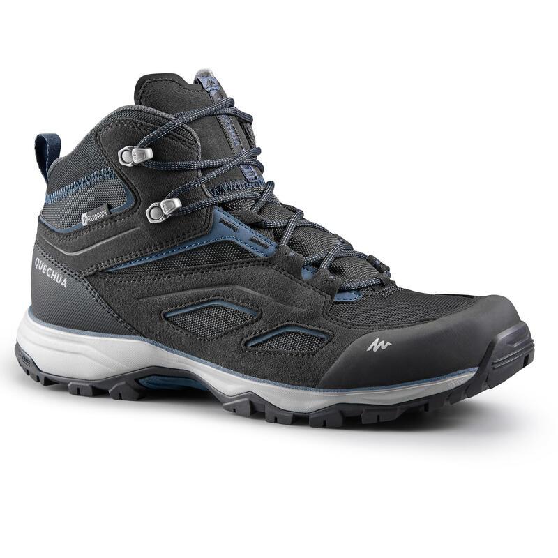Chaussures imperméables de randonnée montagne - MH100 Mid Noir - Homme