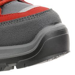 Chaussures de randonnée montagne enfant MH500 montantes imperméables rouges
