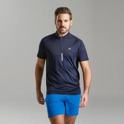 Men's Fast Hiking Short-sleeved T-Shirt FH500 - Blue Black