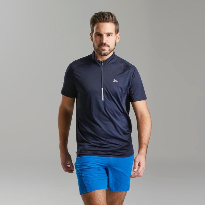 男款極速健行短袖T恤FH500-藍黑色