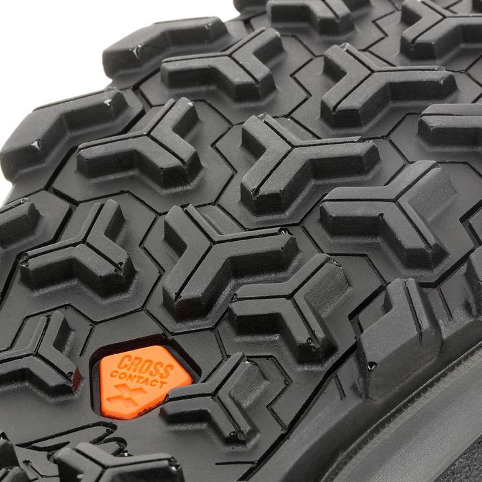 Kid's waterproof mountain walking shoes MH 500 - grey/pink 10-5