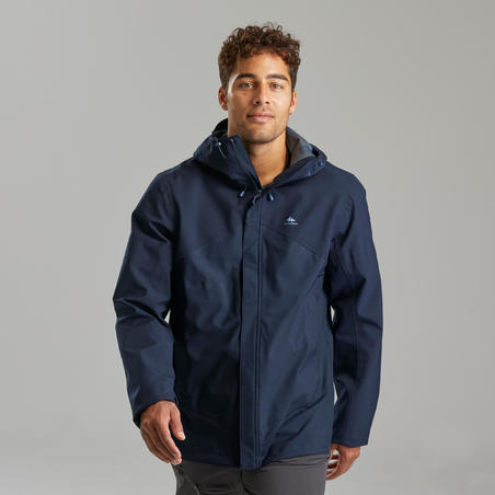 Jaket berjalan gunung tahan air pria- MH150
